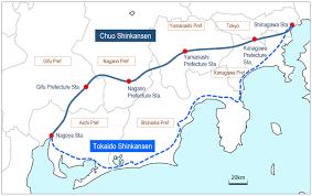 Shinagawa Station Map Superconducting Maglev Technology Future And Development