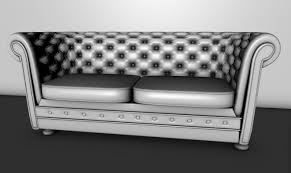 Gray Chesterfield Sofa by Chesterfield Couch 3d Cgtrader
