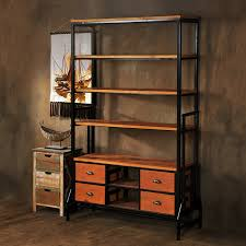 iron off the living room wood bookcase shelves display showcase flower jewelry rack shelf ikea star home off a single american country wrought iron shelf bookcase
