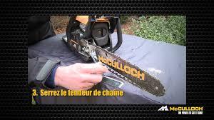 mcculloch how to tension de la chaîne de tronçonneuse youtube