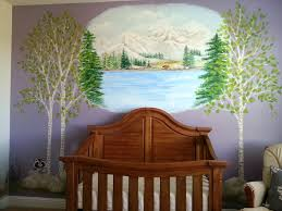 childrens painted wall murals cathie s murals childrens murals nursery reagans forest mural with aspen