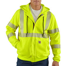 Construction High Visibility Clothing Men U0027s Flame Resistant Heavyweight High Visibility Class 3 Hooded