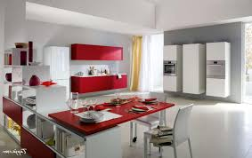 Kitchen Cabinet Table Kitchen Awesome Italian Modern Kitchen Design Red Cabinet