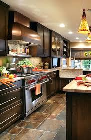Dark Kitchen Cabinets With Light Countertops - dark brown kitchen cabinets with stainless steel appliances light