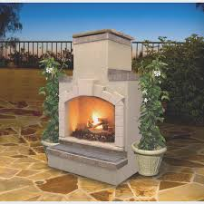 fireplace best free standing outdoor gas fireplace nice home