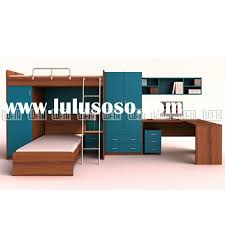 Bunk Bed With Desk And Trundle Children Bedroom Furniture With Bunk Trundle Bed Two Door
