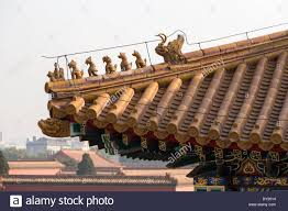 asia beijing china detail forbidden city imperial roof decoration