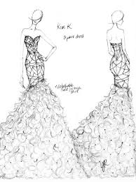 designers sketch what upcoming celebrity brides should wear