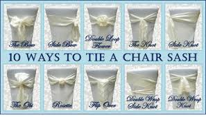 wedding chair bows 10 ways to tie a chair sash sweet tea proper