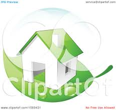 clipart 3d energy efficient home on a green leaf royalty free