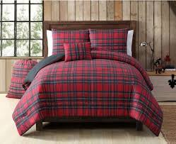 red black madras plaid quilt twin xl set checkered bedding tartan