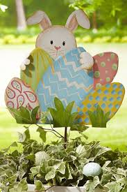 Easter Egg Rabbit Decoration by 123 Best Easter Outdoor Decorations Images On Pinterest Easter