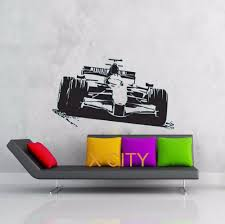 aliexpress com buy sport car racing f1 formula one wall art aliexpress com buy sport car racing f1 formula one wall art graphic sticker die cut vinyl decal home bedroom decor stencil mural from reliable bedroom