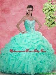 quinceanera dresses 2016 luxurious apple green 2016 quinceanera gowns with beading and