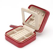 Travel Box images Wolf 329971 caroline zip travel jewelry case black jpg