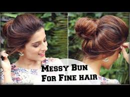 easy indian hairstyles for school 1min cute messy bun for school for medium long hair giveaway