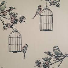 wallpaper with bird cages wallpapersafari