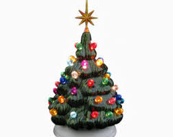 winter white ceramic christmas tree clear lights large 18 inch