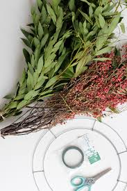 wreath supplies and loishandmade wreath