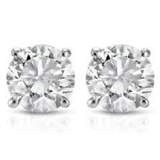 stud diamond earrings 1ct diamond studs 14k white gold ebay