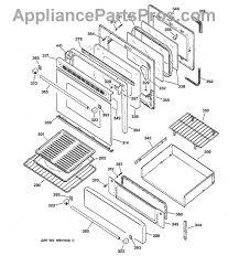 Ge Profile Cooktop Parts List Ge Wb4k1 Oven Door Gasket Appliancepartspros Com