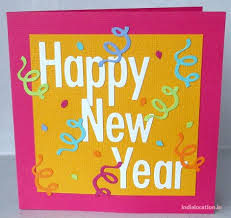 new years card greetings handmade happy new year card for friends merry christmas and