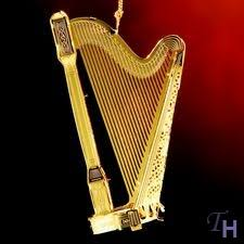 tranquil harp ornament by baldwin