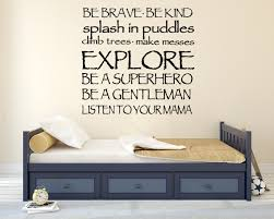 custom wall decals for nursery be brave be kind boys rule wall decal nursery wall decal custom