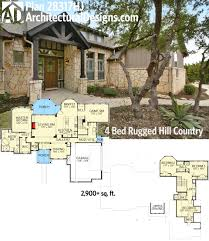 plan 28317hj 4 bed rugged hill country house plan photo online