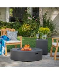 Knight Home Decor Don U0027t Miss This Bargain Santos Outdoor Circular Propane Fire Pit