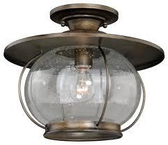 Glass Ceiling Light Fixtures Vaxcel Lighting C0078 Jamestown 1 Light Semi Flush Indoor Ceiling