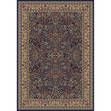 Navy Blue And Beige Area Rugs by Shop Concord Global Valencia Rectangular Blue Floral Woven Area