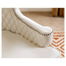 White Leather Armchairs Stephanie Quilted Leather Armchair White Abbyson Living Target
