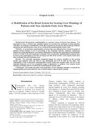 a modification of the brunt system for scoring liver histology of