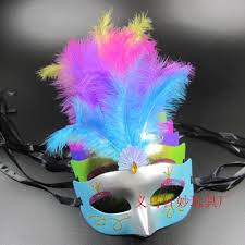 halloween mask online halloween colourful feather masks birthday party supplies