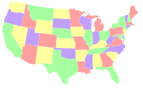 united states map with all the states and cities interesting map problems