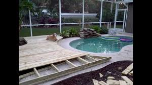 Unusual Decking Ideas by Ideas On How To Build A Custom Wood Deck Around Your In Ground