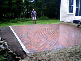 Patio Brick Pavers New Brick Patio Pavers For 13 Paver Material Cost With