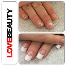 before colour and after colour acrylic nails cuccio