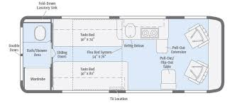 sle floor plans travato floorplans winnebago rvs
