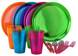 neon party supplies bright neon party set includes assorted colors of