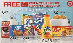 free 5 gift card wyb 5 breakfast items target deals on