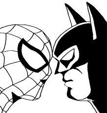spiderman and batman coloring book pages kids fun art for com