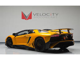 yellow lamborghini aventador lamborghini aventador sv roadster for sale in the us