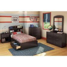 Bedroom Furniture Bookcase Headboard South Shore Logik Size Bookcase Headboard In Pine
