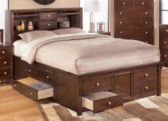 King Bed Storage Headboard by Awesome Bookcase Headboard Captains Bed Queen With 8 Drawer