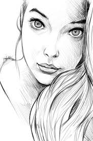 gallery easy sketches of s face drawing art gallery