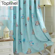 Teal Bird Curtains Top Finel Bird Pattern Finished Blackout Curtains For