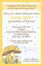 bureau winnie pooh series baby shower invitation winnie the pooh disney
