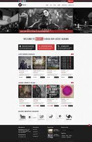 halloween website templates freebie musica ecommerce website template psd premiumcoding